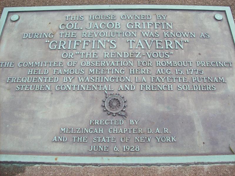 Griffen's Tavern Plaque