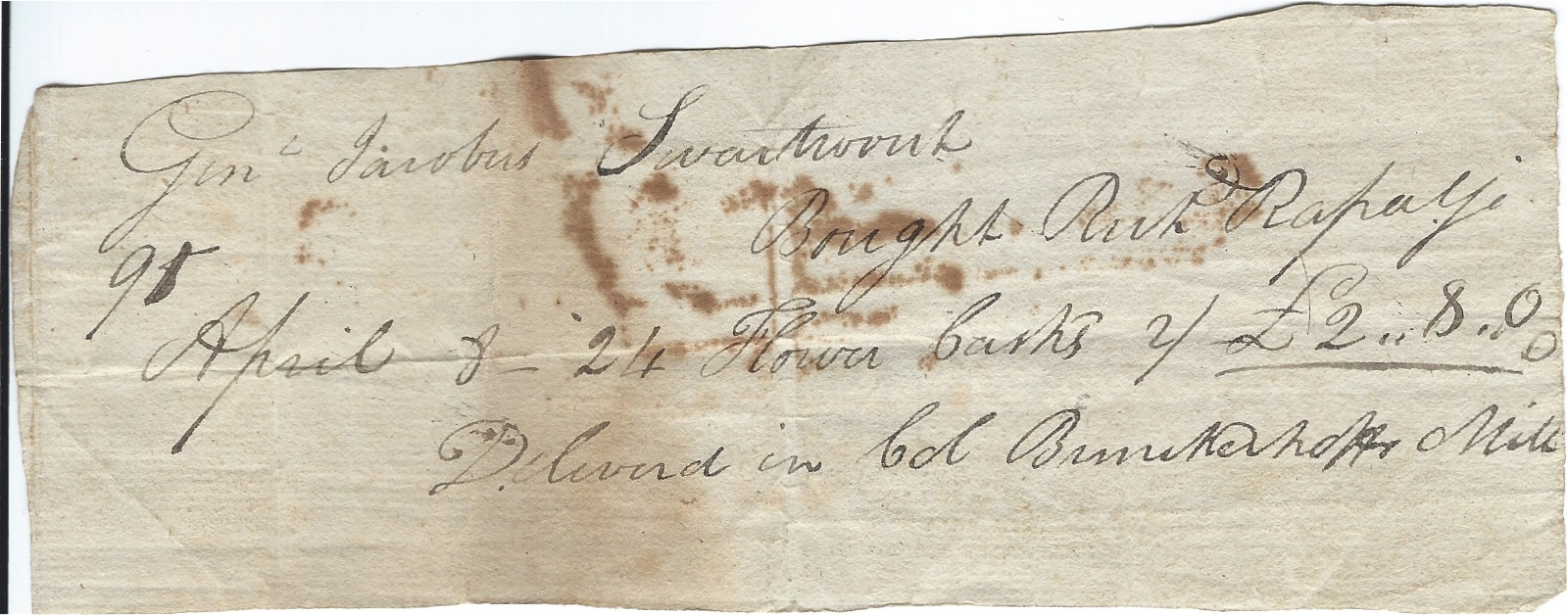Swartwout Document 1824